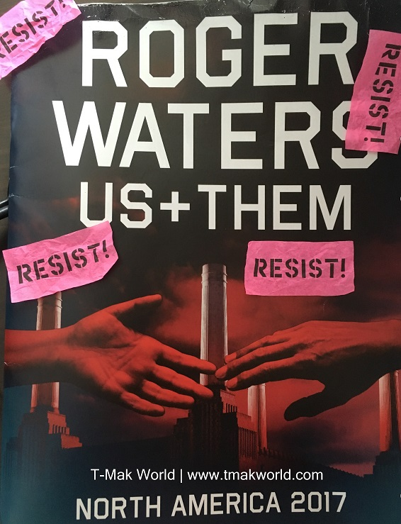 Roger Waters Us + Them Tour Book and Confetti