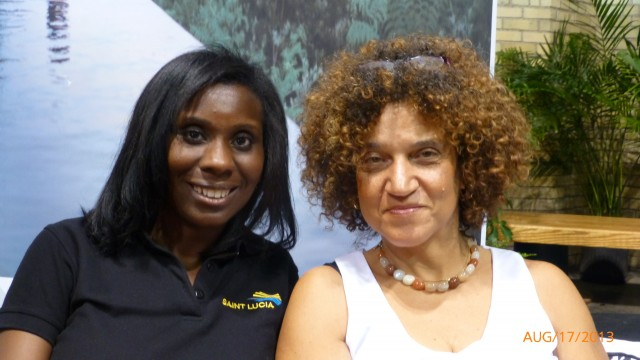 Alison Theodore - Saint Lucia Tourist Board and Frances-Anne Solomon - CEO of CaribbeanTales