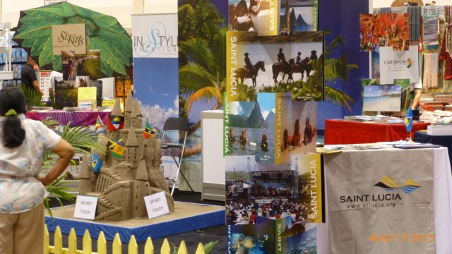 Tourism Booth at the CNE promoting the Isles of the Caribbean.