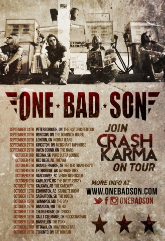 One Bad Son Tour Poster