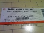 Roger Waters The Wall Movie Ticket