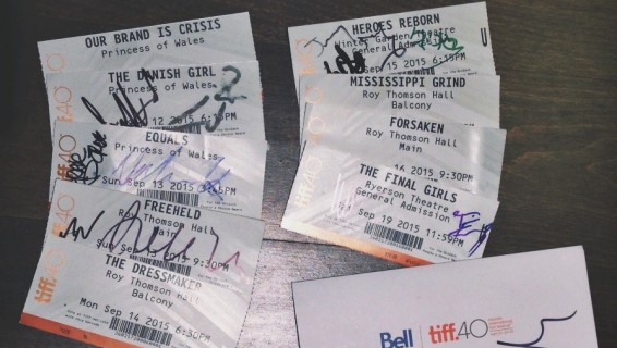 TIFF Tickets Signed by the Stars