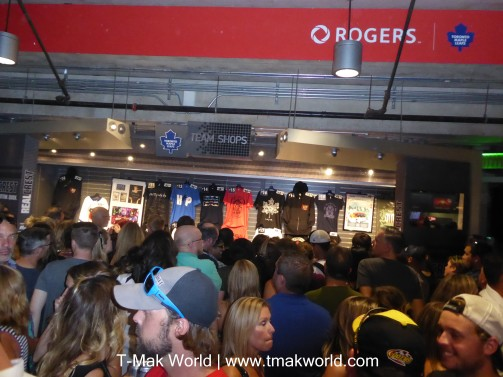 Merch stand at The Tragically Hip